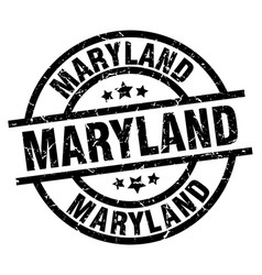 Maryland black round grunge stamp vector