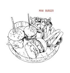Mini burgers vector