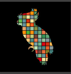 parrot bird cat pet color silhouette animal vector image