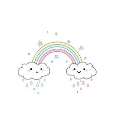 rainbow print vector image