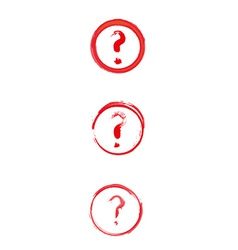 Red danger sign with question mark vector