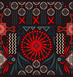 seamless ethnic pattern colorful backdrop vector image vector image