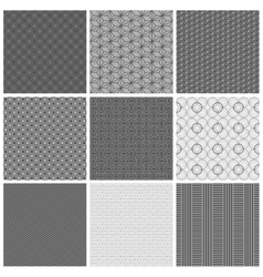 Seamless gray patterns vector image vector image