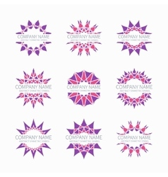 Simple pink geometric abstract symmetric shapes vector image vector image