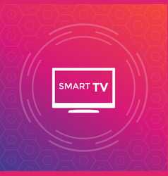 smart tv icon sign vector image vector image