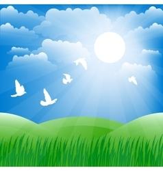 Spring landscape background vector image vector image