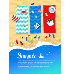 summer vacation design vector image