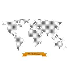 world map cross dot vector image