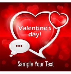 Valentines day message vector