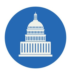 Icon of united states capitol hill building vector