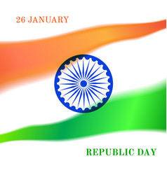 Indian republic day celebration vector