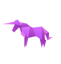 animals unicorn origami vector image