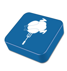 Grilled chicken icon vector