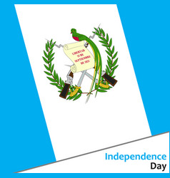 Guatemala independence day vector