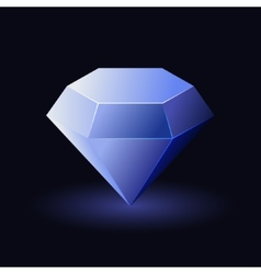 Shiny Blue Diamond vector image