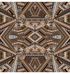 Kaleidoscope made of brown tones ethnic patchwork vector