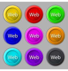 Web sign icon world wide web symbol set of colored vector