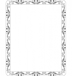 Filigree border vector