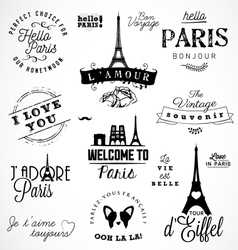 Paris badges and labels in vintage style vector