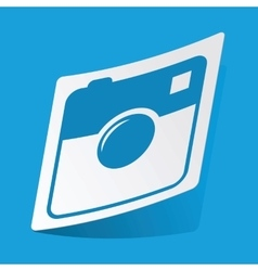 Square camera sticker vector