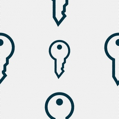 Key icon sign seamless pattern with geometric vector