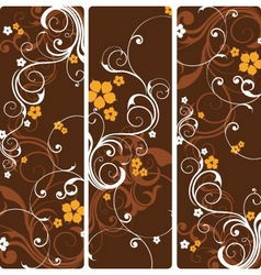 Floral panels vector