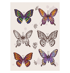 Hand drawing butterfly vector