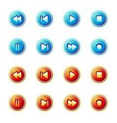 Media control icon vector