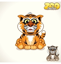 Cartoon tiger character vector