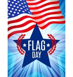 Flag day card vector