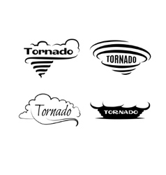 Tornado set logotypes and signs vector