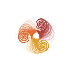 abstract colorful spinner in motion logo design vector image