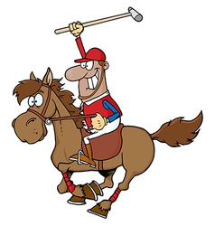 African american polo player vector