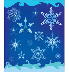 Background with decorative snowflakes vector image vector image