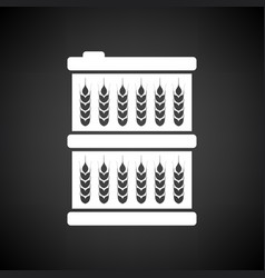 Barrel wheat symbols icon vector