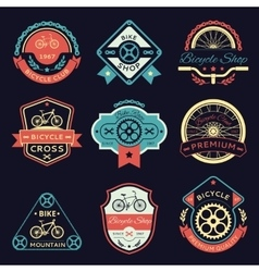 Bicycle and bike color logo vector image vector image
