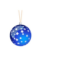 blue christmas ball vector image vector image