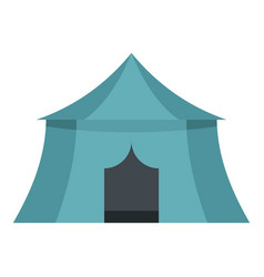 blue yellow tourist tent for travel camping icon vector image