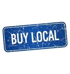 Buy local blue square grunge textured isolated vector
