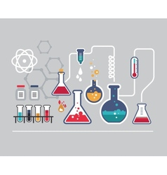 Chemistry infographic vector image vector image