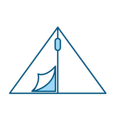 Cute camping tent cartoon vector