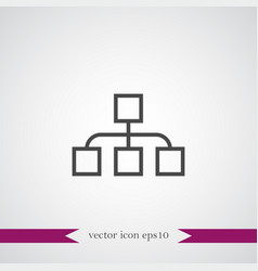 diagramma icon simple vector image