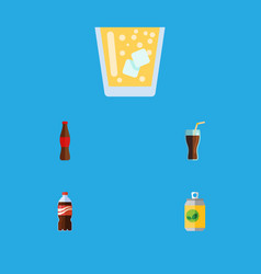 Flat icon drink set of fizzy drink bottle juice vector