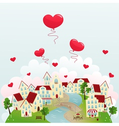 happy town vector image