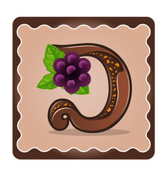 Letter d candies chocolate vector