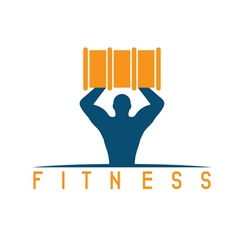 Man of fitness silhouette character with barrel vector