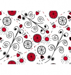 red black pattern vector image vector image