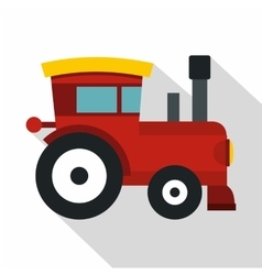 Red toy train icon flat style vector