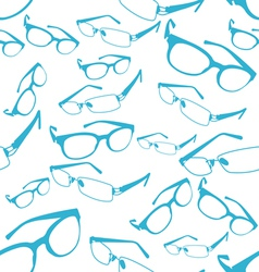 Seamless Blue Spectacle Pattern vector image vector image