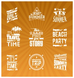Set of summer logotype vector image vector image
